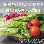 冷やしうどんの具材!豚肉やなすなど夏野菜で具だくさんのレシピ集!